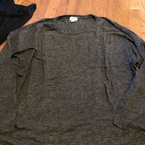 Old navy charcoal gray sweater with pocket